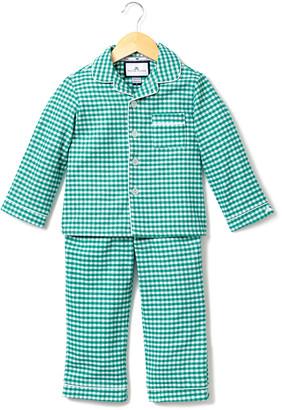 Petite Plume Gingham Flannel Pajama Set, Size 2-10