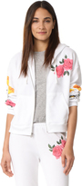 Wildfox Couture Meadow Flowers Zip Hoodie