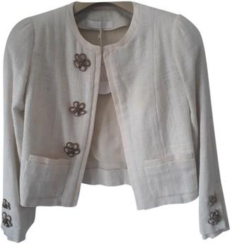Chloé Ecru Leather Jacket for Women