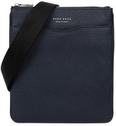 Boss Signature Navy Leather Messenger Bag