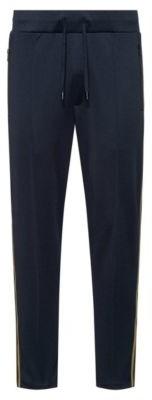 HUGO BOSS Regular Fit Jogging Pants With Side Stripes - Dark Blue