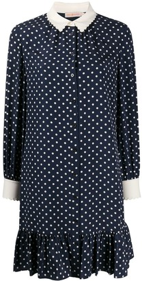Tory Burch Polka Dot-Print Shirt Dress