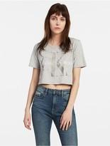 Calvin Klein Foil Reissue Logo Cropped T-Shirt