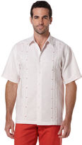 Cubavera Short Sleeve Slub Tucked Shirt