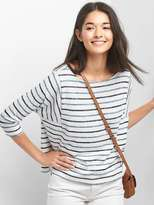 Softspun boxy stripe batwing top