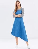 Warehouse Asymmetric Drapey Dress