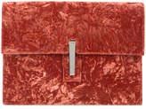 Hayward velvet soft folded clutch