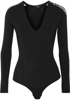 Cosabella Orsay Lace-Trimmed Modal-Blend Bodysuit