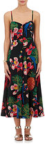 Valentino Women's Tropical-Print Silk Midi-Dress
