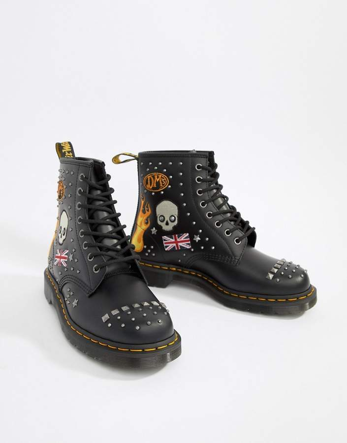 e04054a1f96 1460 8-eye stud boots in black