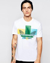 Adidas Originals T-shirt With Graphic Trefoil Ab9564 - White