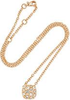 Pomellato Nudo Solitaire 18-karat Rose Gold Diamond Necklace