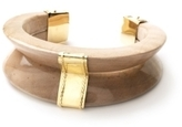 Kara Ross Gold and Maple Wood V Cuff