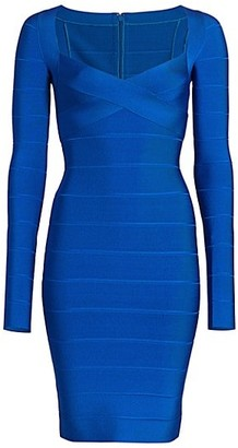 Herve Leger Icon Long-Sleeve Dress