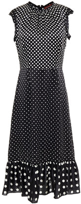 Altuzarra Ruffle-trimmed Polka-dot Silk-satin Midi Dress
