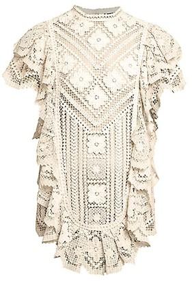 Isabel Marant Zanetti Seaside Ruffled Mini Dress