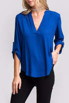 Lush Lovely Blue Blouse