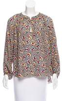 The Great Printed Silk Top