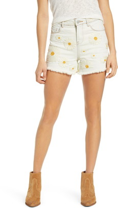 Blank NYC Daisy Duke Embroidered Denim Shorts