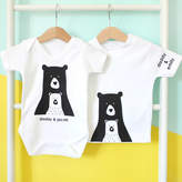 Heather Alstead Design Personalised Daddy And Me Bear Baby Grow
