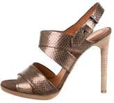 Reed Krakoff Metallic Snakeskin Sandals