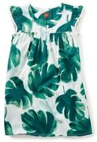 Tea Collection Girl's Palm Flutter Sleeve Dress