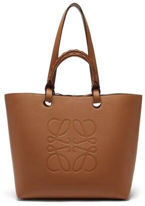 Loewe Anagram-debossed Leather Tote Bag - Tan