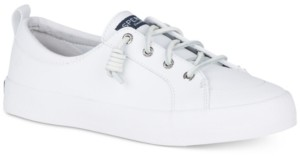 Sperry Women's Crest Vibe Leather Sneakers, Created for Macy's Women's Shoes