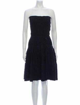 Louis Vuitton Silk Knee-Length Dress Black
