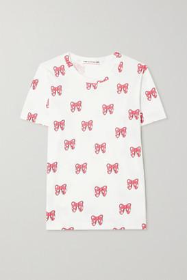 COMME DES GARÇONS GIRL Disney Printed Cotton-jersey T-shirt - White