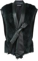 Balmain structured fur waistcoat