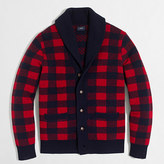 J.Crew Factory Buffalo check cardigan sweater