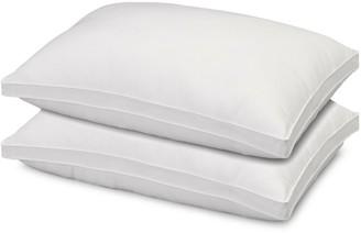 +Hotel by K-bros&Co Ella Jayne Hotel 2-Piece Overstuffed Luxury Plush Medium/Firm Gusseted Microfiber Side & Back Sleeper Pillow Set