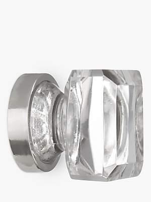 John Lewis & Partners Glass Cube Cupboard Knob