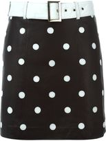 Jeremy Scott polka dot mini skirt