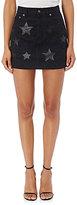 Saint Laurent Women's Star-Inset Denim Miniskirt