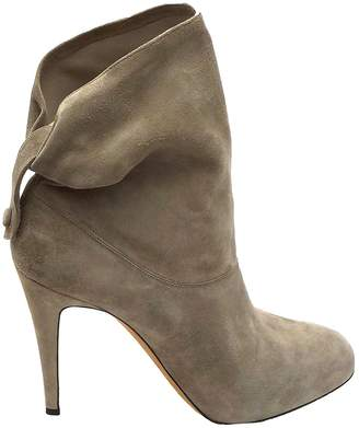 Brian Atwood Grey Suede Ankle boots
