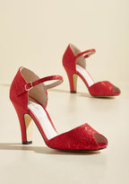Demfon / Navid O Nadio The Sole Works Peep Toe Heel in Scarlet