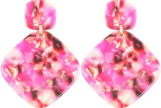 Eye Candy Los Angeles Eye Candy La Alyssa Pink Resin Small Drop Earrings