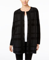 Eileen Fisher Open-Front Wool Plaid Jacket, A Macy's Exclusive