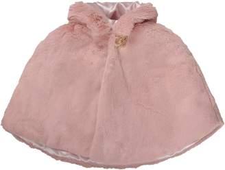 Blumarine Pink Babygirl Cape With Metallic Logo