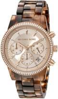 Michael Kors Women's Ritz MK6280 Plastic Quartz Watch