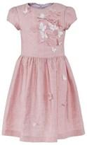 Il Gufo Pink Linen Butterfly Dress