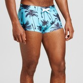 Evolve Men's Tropical Square Cut Swim Trunks Turquoise - Evolve By 2(X)Ist