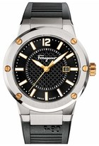 Salvatore Ferragamo 'F-80' Rubber Strap Watch, 44mm