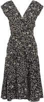 Isabel Marant Glory Ruched Printed Silk-blend Dress