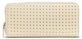 Merona Women's Faux Leather Wallet with Zip Closure Ivory