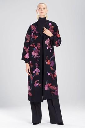 Natori Felt Wool Embroidered Jacket