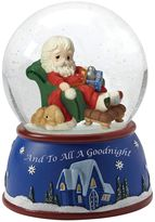 """Precious Moments And To All A Goodnight"""" Musical Santa Christmas Snow Globe"""