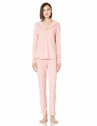 Munki Munki Women's Signature Long Sleeve Classic Pajama Set